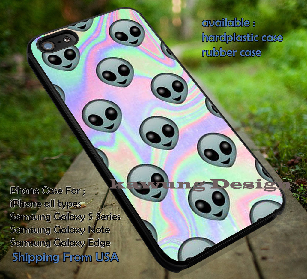 Alien Emoji Hologram Holographic iPhone 6s 6 6s+ 6plus Cases Samsung Galaxy s5 s6 Edge+ NOTE 5 4 3 #art ii - Kawung Design  - 1