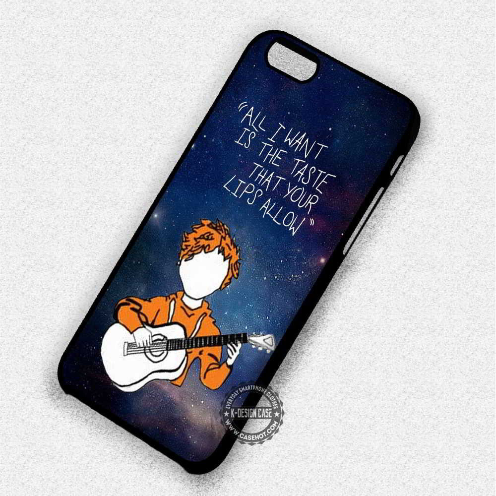 All I Want Eddy Sheeran Lyric - iPhone 7 6 Plus 5c 5s SE Cases & Covers - Kawung Design  - 1