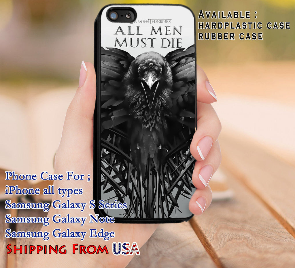 All Men Must Die Quote iPhone X 8+ 7 6s Cases Samsung Galaxy S8 S7 edge NOTE 8 5 4