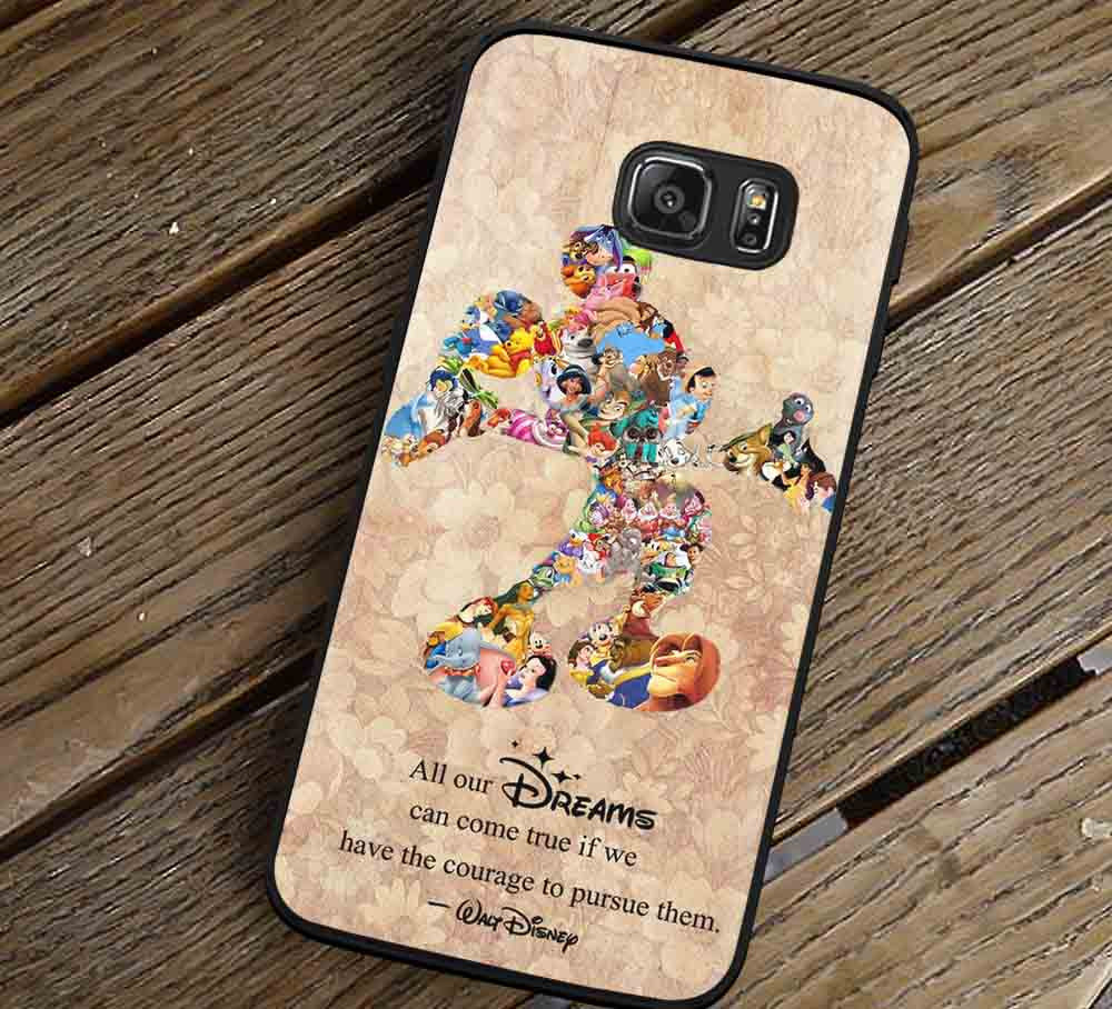 All Our Dreams Quote Mickey Mouse Samsung Galaxy s3 s4 s5 s6 Edge+ NOTE 5 4 3 Cases #quote lk - Kawung Design  - 1