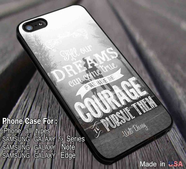 All Our Dreams Waltz Disney Quote iPhone 6s 6 6s+ 6plus Cases Samsung Galaxy s5 s6 Edge+ NOTE 5 4 3 #cartoon #disney #animated #disneycastle dl3 - Kawung Design  - 1