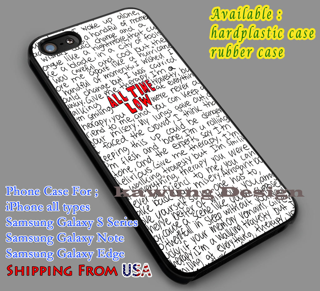 All Time Low Lyrics iPhone 6s 6 6s+ 5c 5s Cases Samsung Galaxy s5 s6 Edge+ NOTE 5 4 3 #music #atl dl7 - Kawung Design  - 1