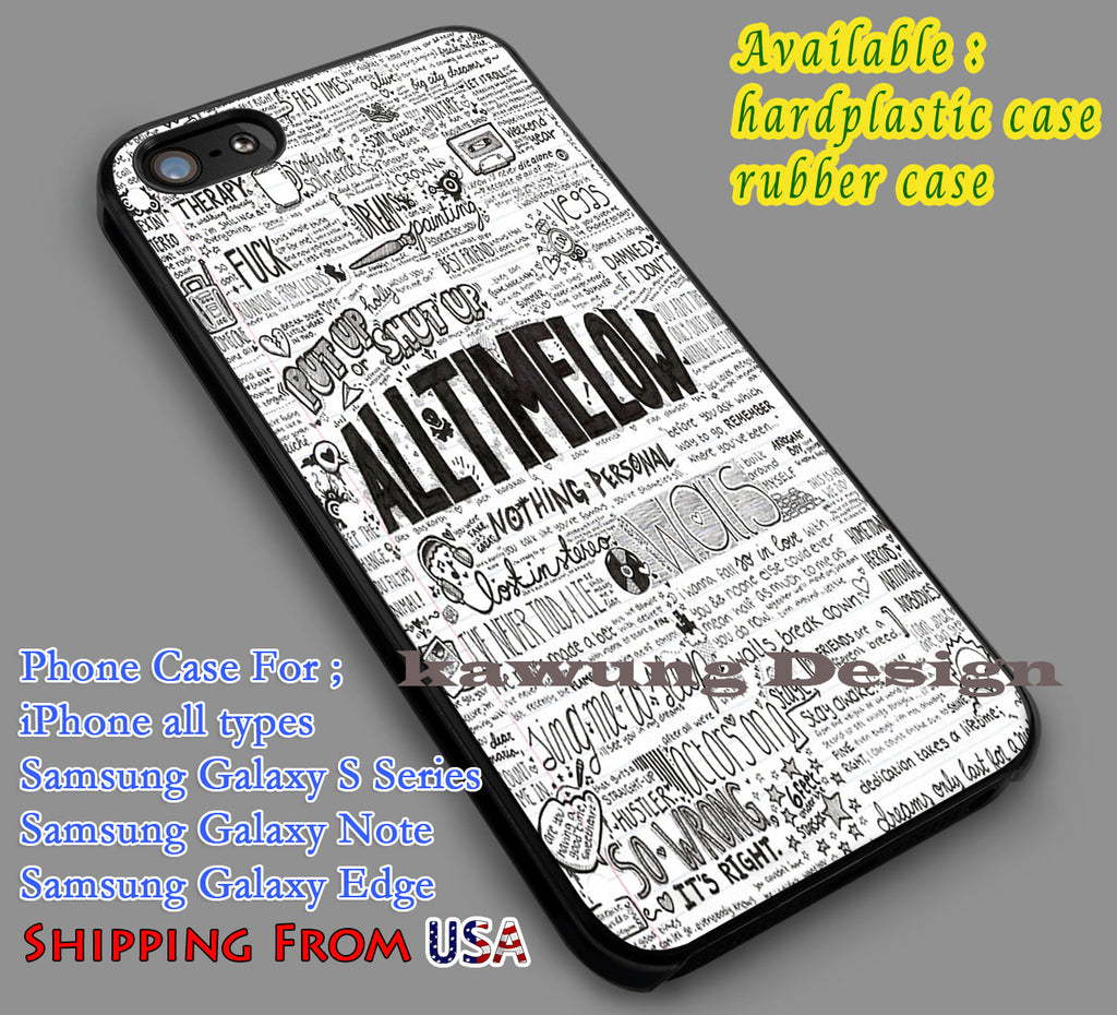 All Time Low Quote Collage iPhone 8+ 7 6s Cases Samsung Galaxy S8 S7 edge NOTE 8 5 4