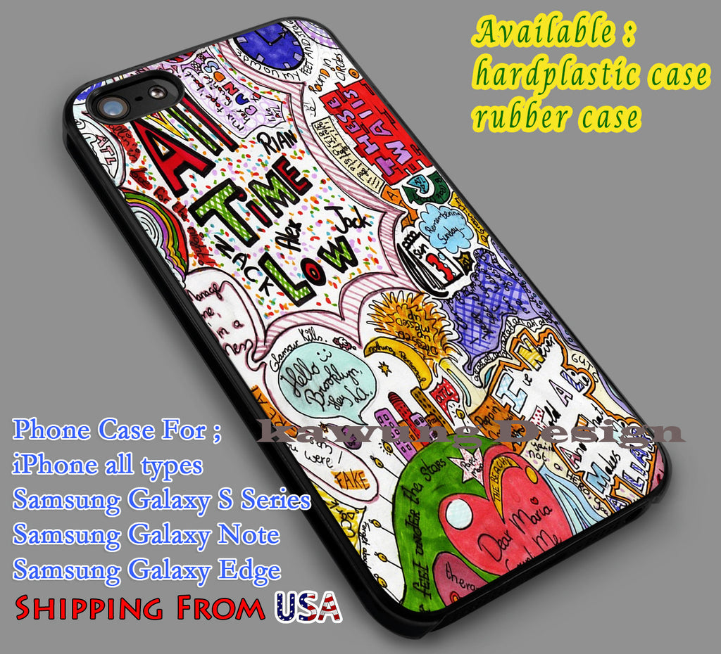 All Time Low Quotes iPhone 6s 6 6s+ 5c 5s Cases Samsung Galaxy s5 s6 Edge+ NOTE 5 4 3 #music #atl dl7 - Kawung Design  - 1