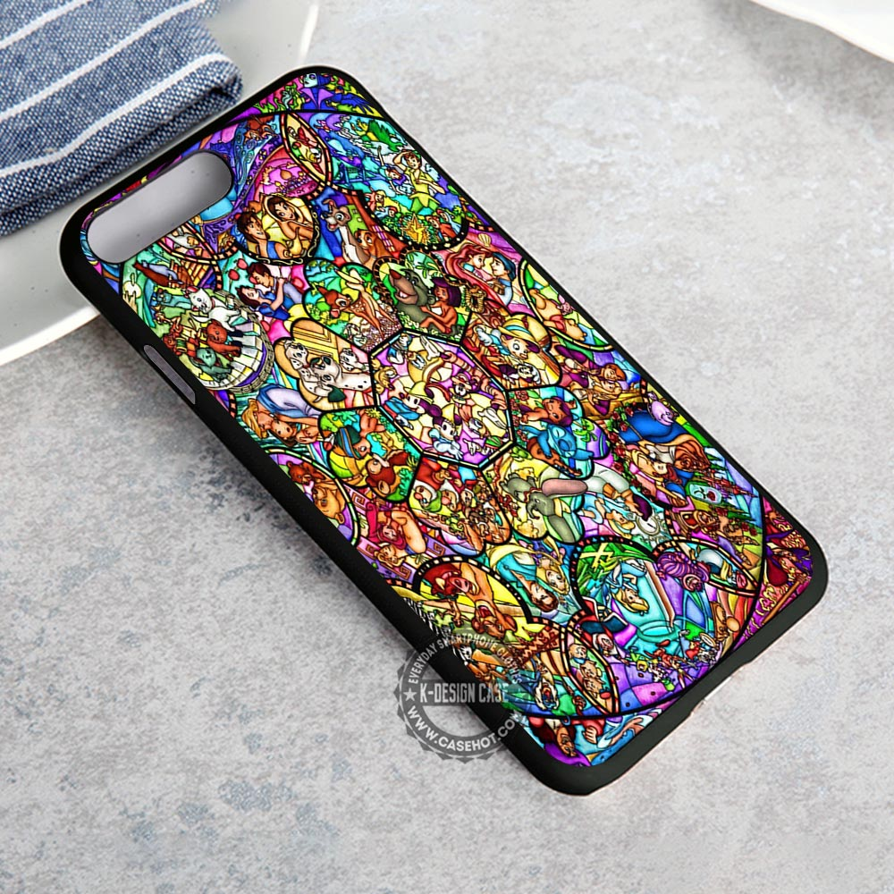All Character Stained Glass Disney iPhone 8 Plus Case
