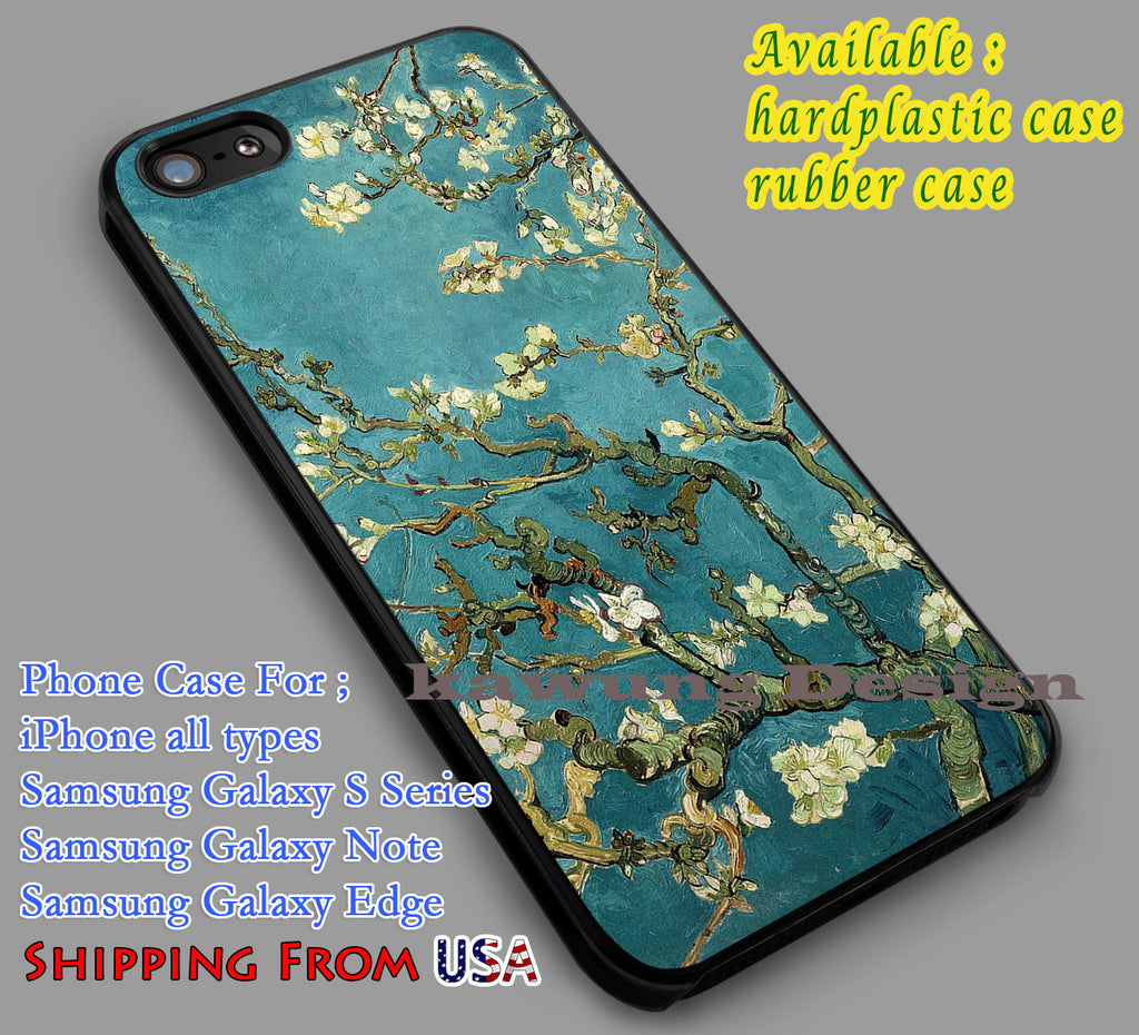 Almond Tree | Art | Painting iPhone 6s 6 6s+ 6plus Cases Samsung Galaxy s5 s6 Edge+ NOTE 5 4 3 #art dl2 - Kawung Design  - 1
