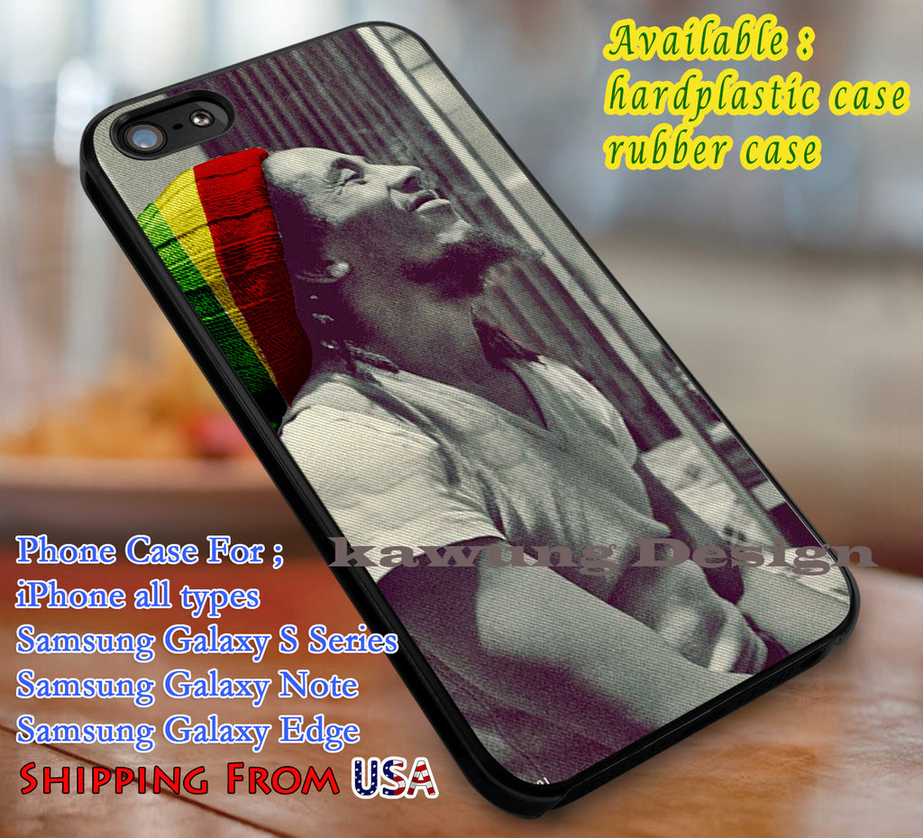 Amazing Legend Bob Marley iPhone 6s 6 6s+ 6plus Cases Samsung Galaxy s5 s6 Edge+ NOTE 5 4 3 #music #bm dl3 - Kawung Design  - 1