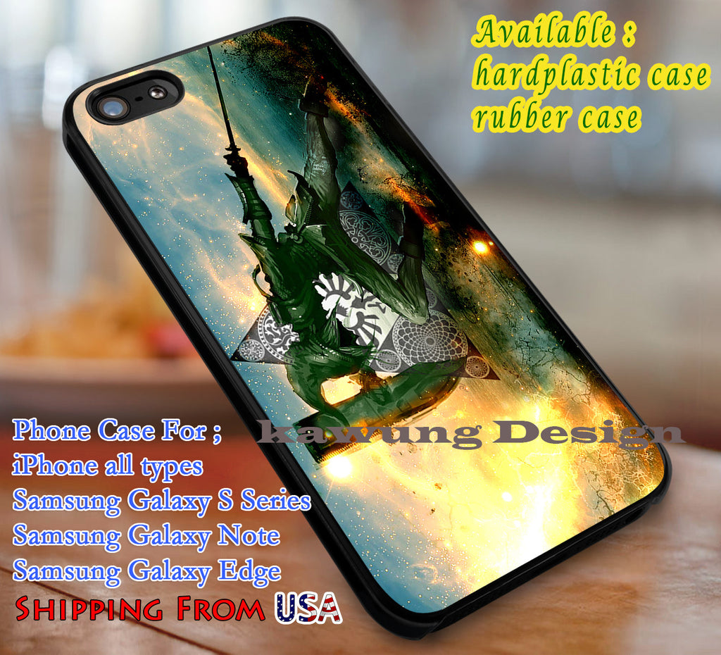 Amazing Link Art The Legend of Zelda iPhone 6s 6 6s+ 6plus Cases Samsung Galaxy s5 s6 Edge+ NOTE 5 4 3 #cartoon #animE #TheLegendOfZelda #game dl3 - Kawung Design  - 1