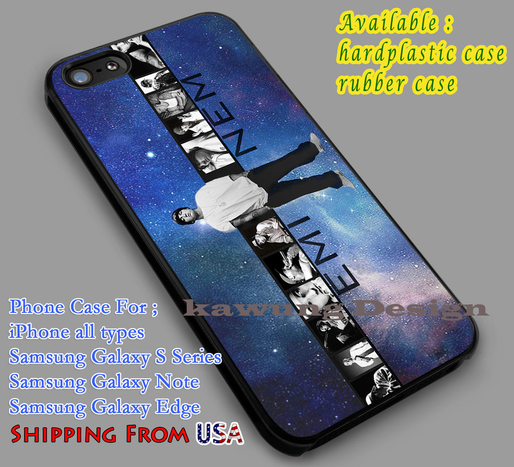 Amazing Rapper Eminem iPhone 6s 6 6s+ 6plus Cases Samsung Galaxy s5 s6 Edge+ NOTE 5 4 3 #music #emn dl3 - Kawung Design  - 1
