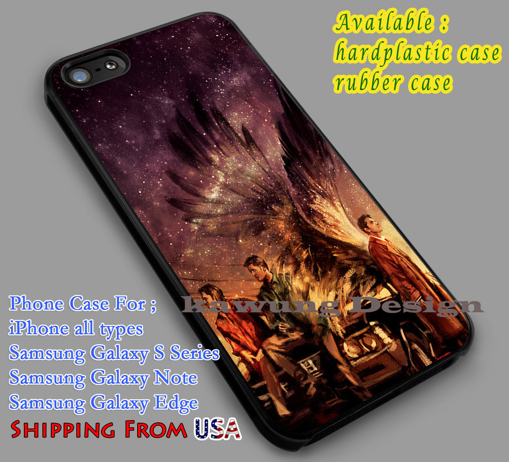 Amazing Supernatural | Painting Art | Dean | Sam iPhone 6s 6 6s+ 6plus Cases Samsung Galaxy s5 s6 Edge+ NOTE 5 4 3 #movie #supernatural dl2 - Kawung Design  - 1