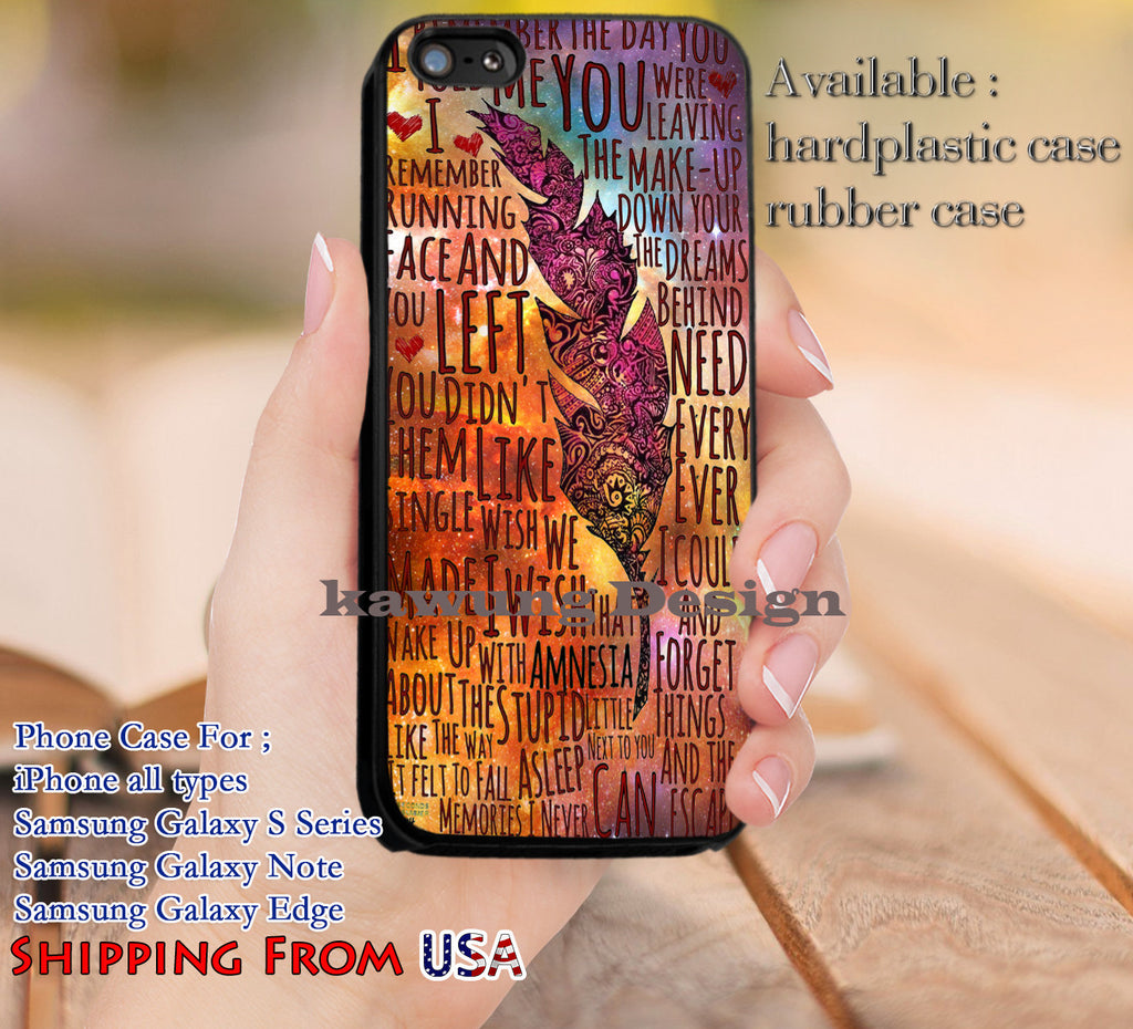 Amnesia Lyrics Art 5SOS iPhone 6s 6 6s+ 5c 5s Cases Samsung Galaxy s5 s6 Edge+ NOTE 5 4 3 #music #5sos dl12 - Kawung Design  - 1