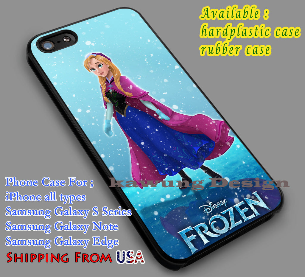 Anna Disney Frozen iPhone 6s 6 6s+ 5c 5s Cases Samsung Galaxy s5 s6 Edge+ NOTE 5 4 3 #cartoon #disney #animated  #frozen dl6 - Kawung Design  - 1