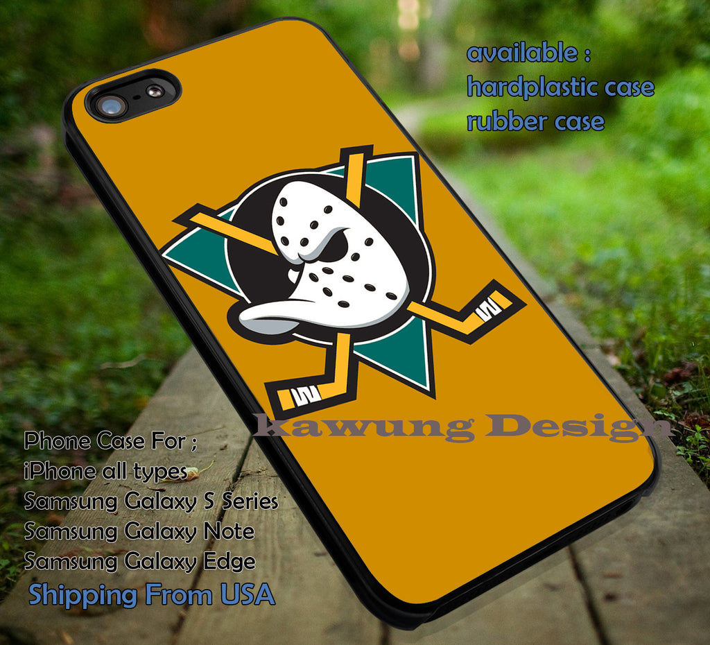 Anaheim Mighty Ducks iPhone 6s 6 6s+ 6plus Cases Samsung Galaxy s5 s6 Edge+ NOTE 5 4 3 #movie #TheMightyDucks ii - Kawung Design  - 1
