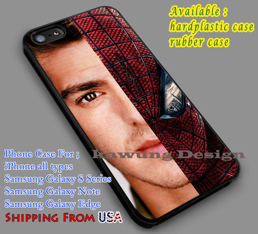 Andrew Garfield Spiderman iPhone 6s 6 6s+ 5c 5s Cases Samsung Galaxy s5 s6 Edge+ NOTE 5 4 3 #movie #disney #animated #marvel #comic dl7 - Kawung Design  - 1