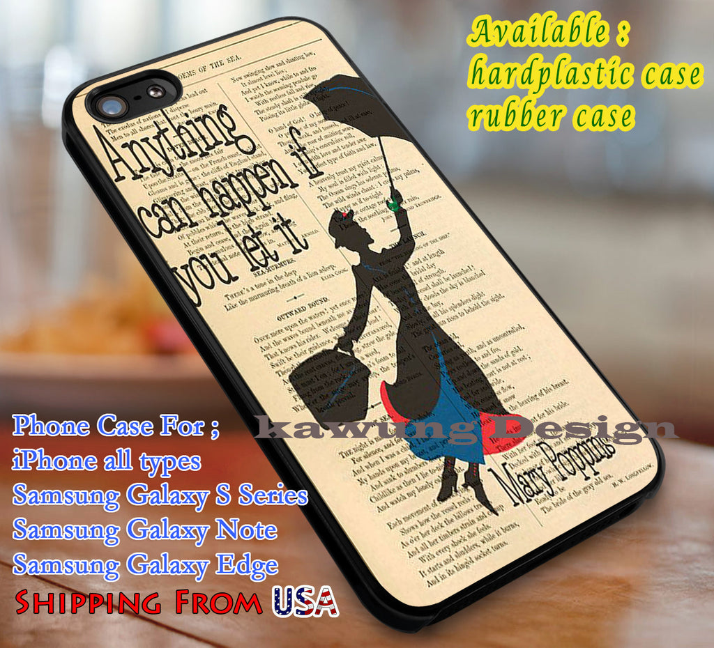 Anything Can Happen Mary Poppins Quote iPhone X 8+ 7 6s Cases Samsung Galaxy S8 S7 edge NOTE 8 5 4