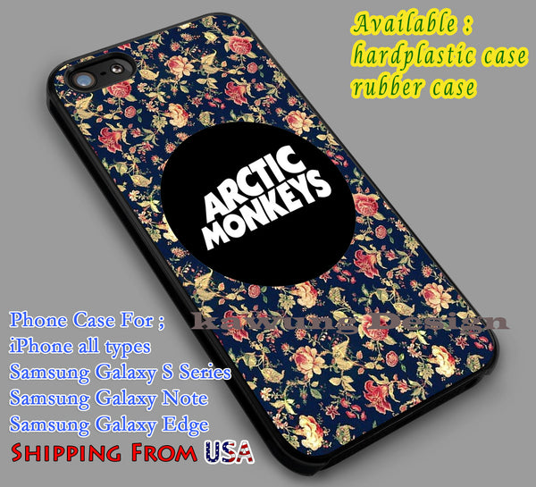 Arctic Monkeys, the arctic monkeys, alex turner, artic monkeys Floral Vintage Case/Cover for iPhone 5/5c/6/6+/6s/6s+ Samsung Galaxy S4/S5/S6/Edge NOTE 3/4/5