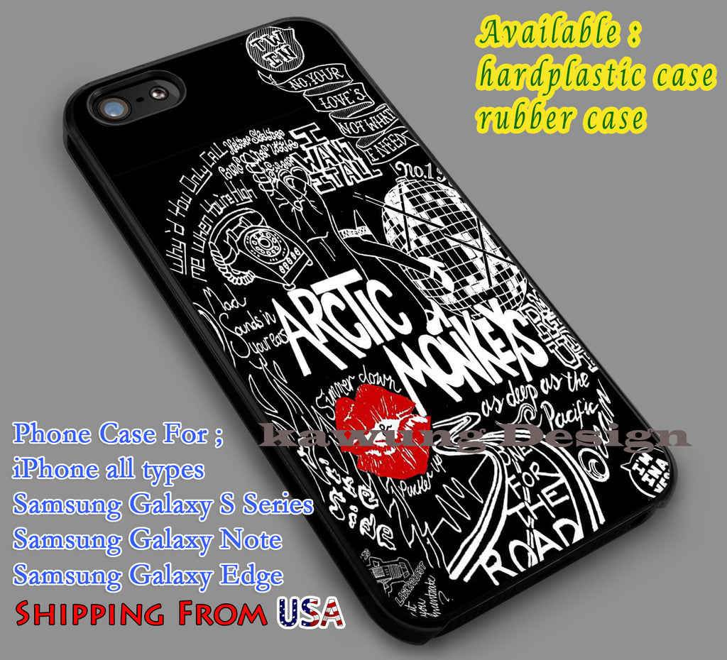 Arctic Monkeys Lyric iPhone 6s 6 6s+ 5c 5s Cases Samsung Galaxy s5 s6 Edge+ NOTE 5 4 3 #music #arc dl7 - Kawung Design  - 1