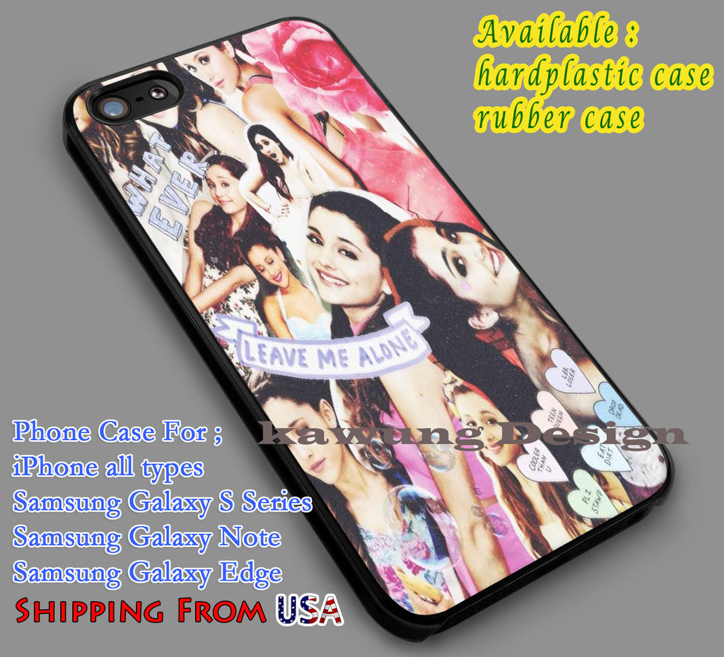 Copy of Ariana Grande Cute Collage iPhone 4/4s/5/5c/6/6+/6s/6s+ Case Samsung Galaxy S4/S5/S6/Edge Cases NOTE 3/4/5 #music #arn ii - Kawung Design  - 4
