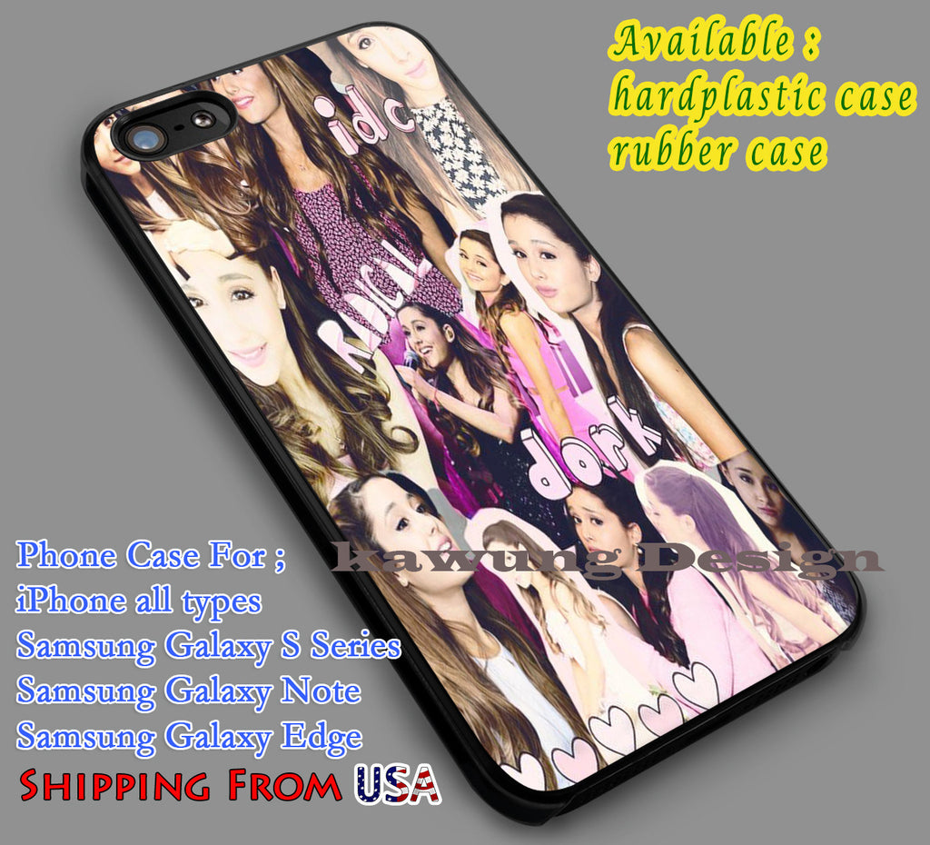 Ariana Grande Collage Actress iPhone 6s 6 6s+ 5c 5s Cases Samsung Galaxy s5 s6 Edge+ NOTE 5 4 3 #music #arn dl7 - Kawung Design  - 1