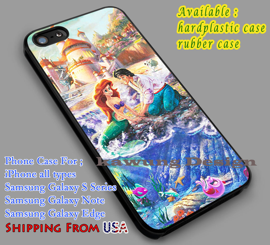 Ariel | Thomas Kinkade Painting | The Little Mermaid iPhone 6s 6 6s+ 6plus Cases Samsung Galaxy s5 s6 Edge+ NOTE 5 4 3 #cartoon #disney #animated #theLittleMermaid dl2 - Kawung Design  - 1