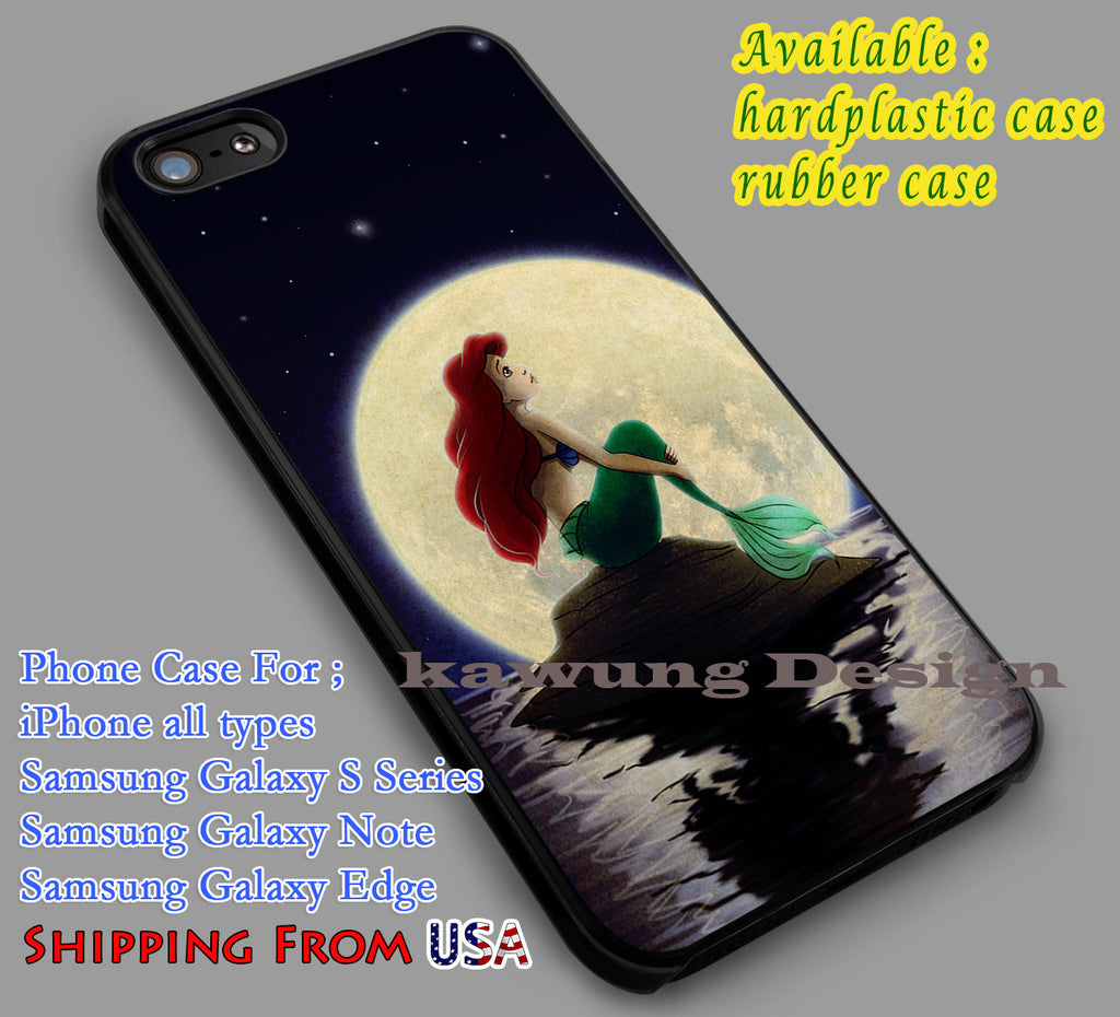 Ariel and Moon | The Little Mermaid | Disney iPhone 6s 6 6s+ 6plus Cases Samsung Galaxy s5 s6 Edge+ NOTE 5 4 3 #cartoon #disney #animated #theLittleMermaid dl2 - Kawung Design  - 1