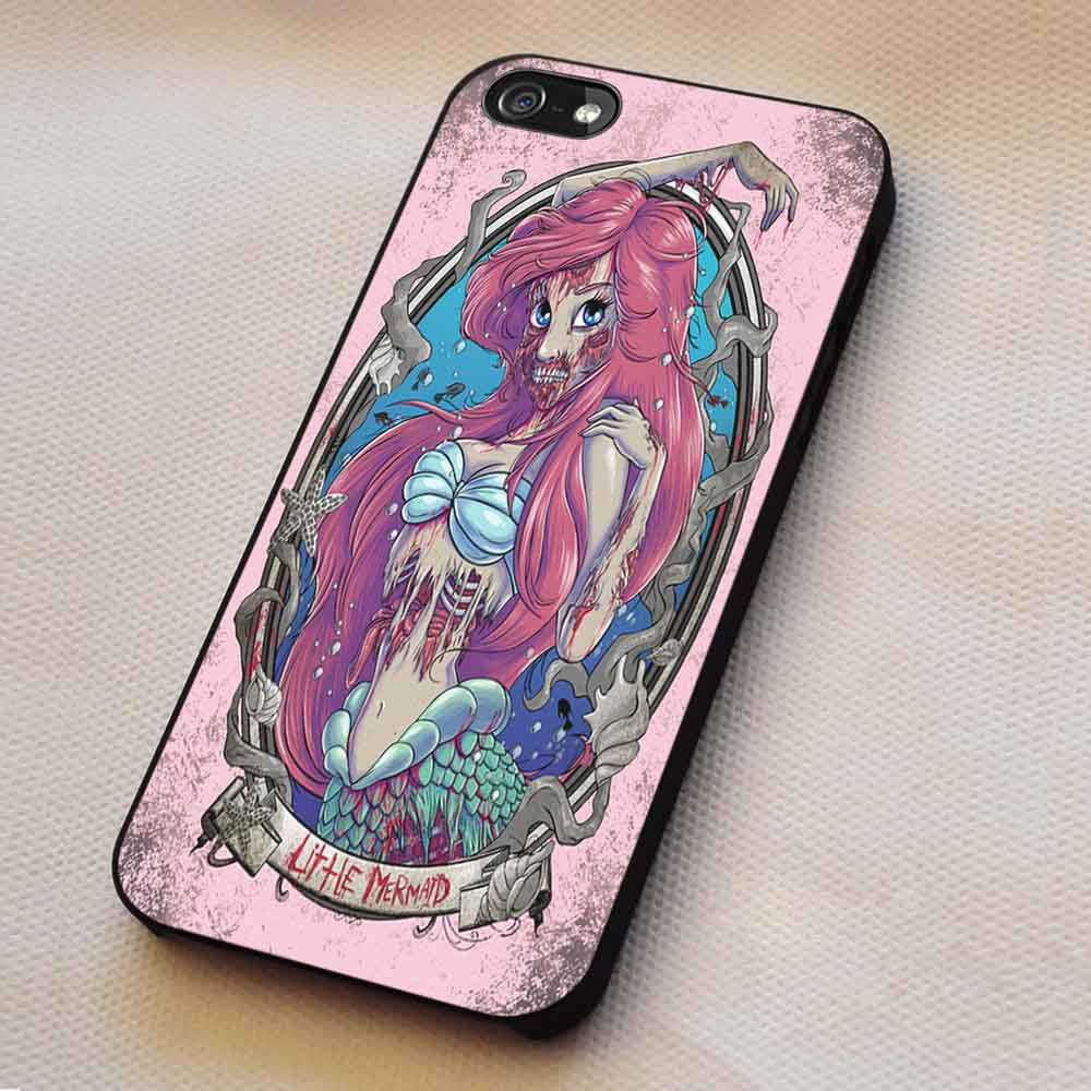 Ariel Mermaid Zombie iPhone 6s 6 6s+ 5c 5s Cases Samsung Galaxy s5 s6 Edge+ NOTE 5 4 3 #disney #theLittleMermaid dt - Kawung Design  - 1