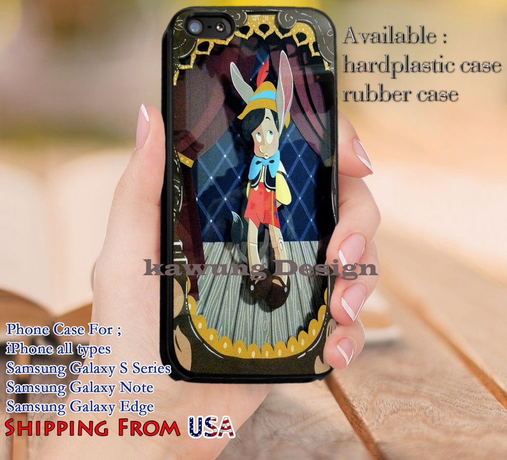 Art Pinnochio iPhone 6s 6 6s+ 5c 5s Cases Samsung Galaxy s5 s6 Edge+ NOTE 5 4 3 #cartoon #animated #disney #Pinochio dl13 - Kawung Design  - 1