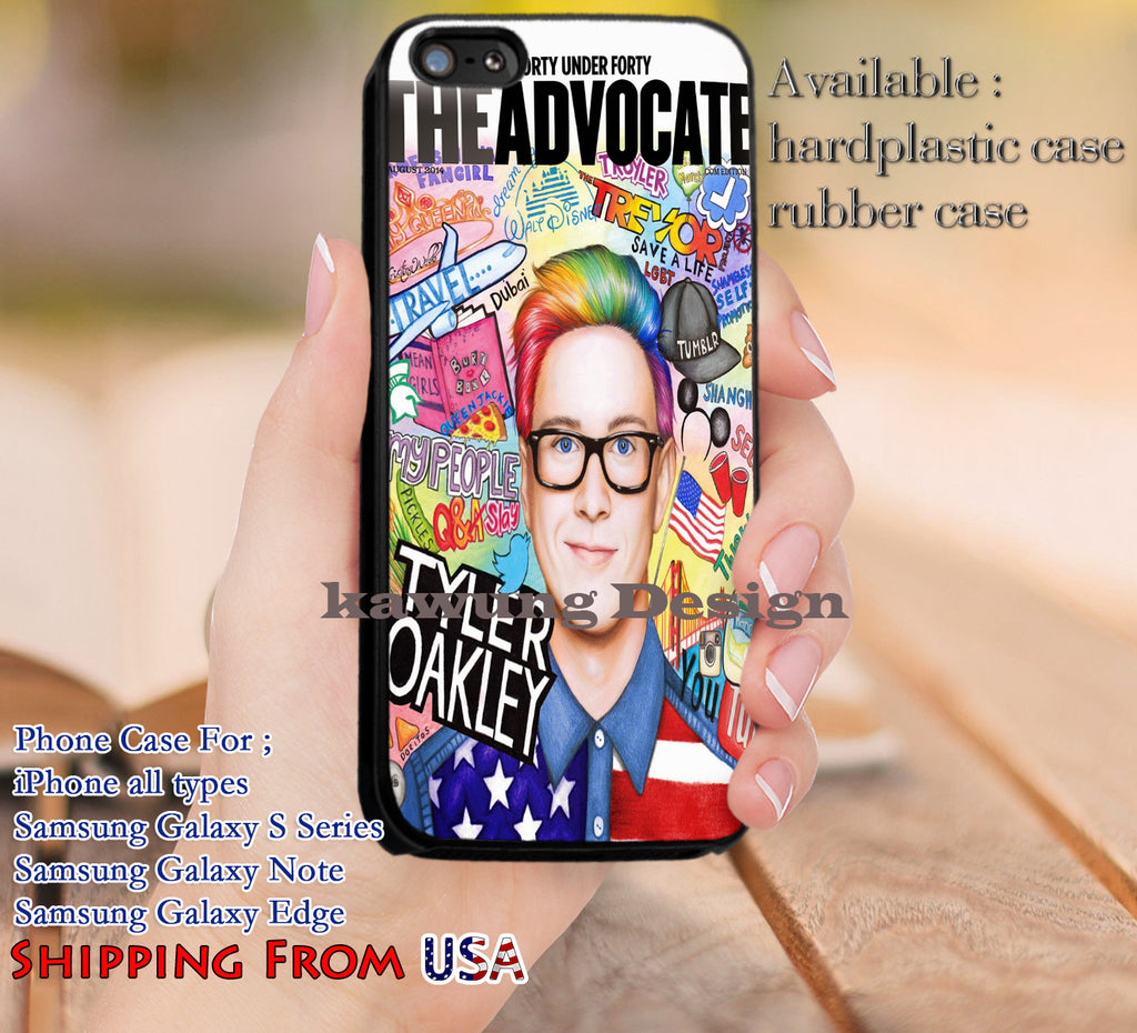 Art Tyler Oakley Youtube iPhone 6s 6 6s+ 5c 5s Cases Samsung Galaxy s5 s6 Edge+ NOTE 5 4 3 #other dl11 - Kawung Design  - 1