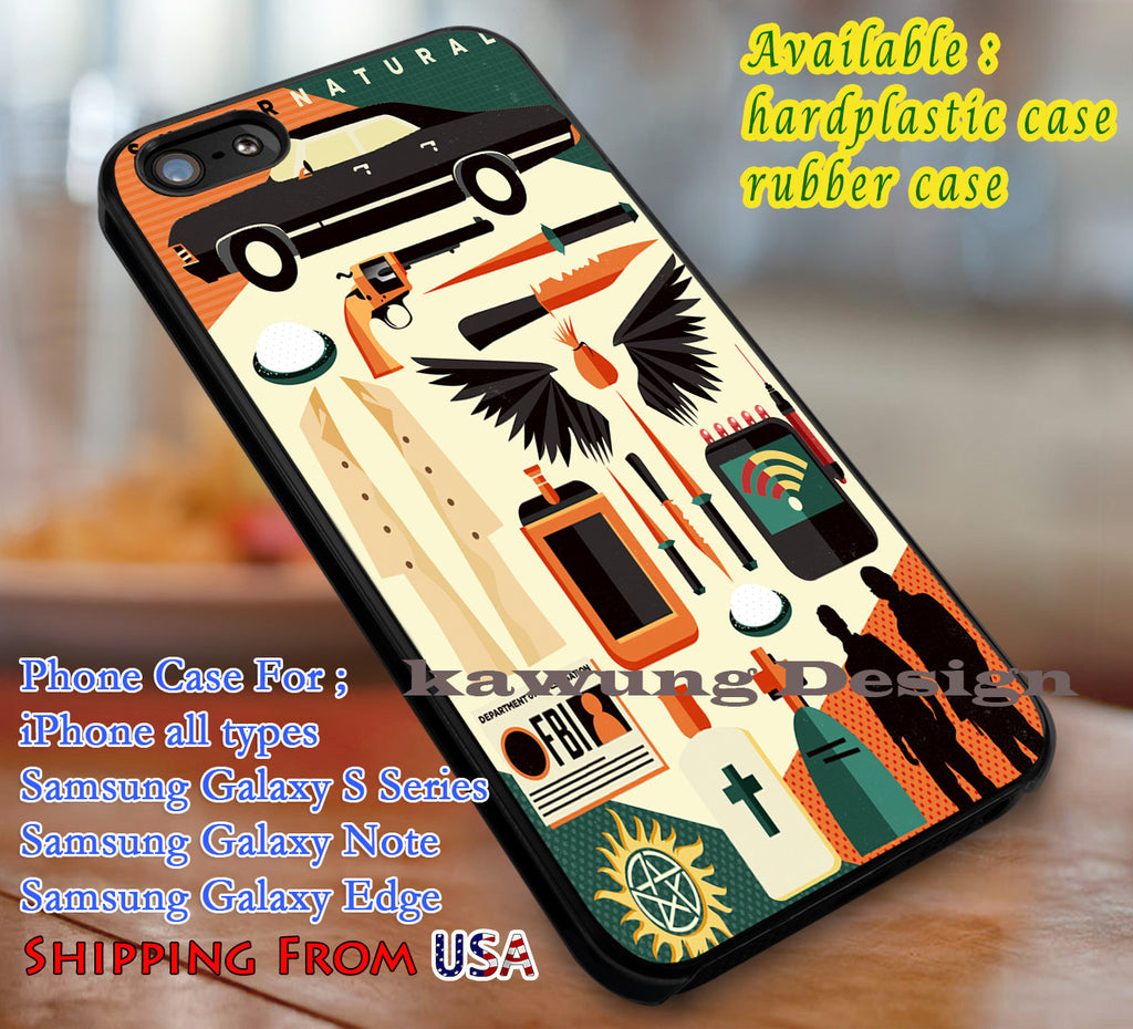 Art Collage Supernatural iPhone 6s 6 6s+ 6plus Cases Samsung Galaxy s5 s6 Edge+ NOTE 5 4 3 #movie #supernatural dl3 - Kawung Design  - 1