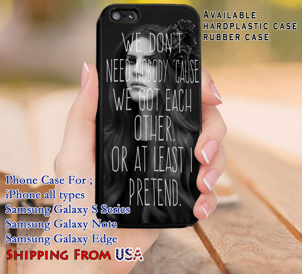 At Least I Pretend Lana Del Rey iPhone 6s 6 6s+ 5c 5s Cases Samsung Galaxy s5 s6 Edge+ NOTE 5 4 3 #music #lana dl8 - Kawung Design  - 1