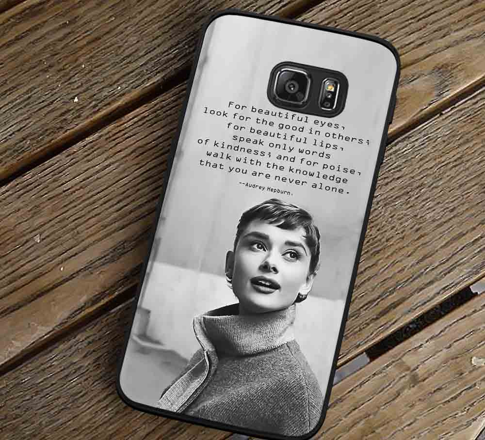 Audrey Hepburn Beauty Quotes Samsung Galaxy s3 s4 s5 s6 Edge+ NOTE 5 4 3 Cases #quote lk - Kawung Design  - 1