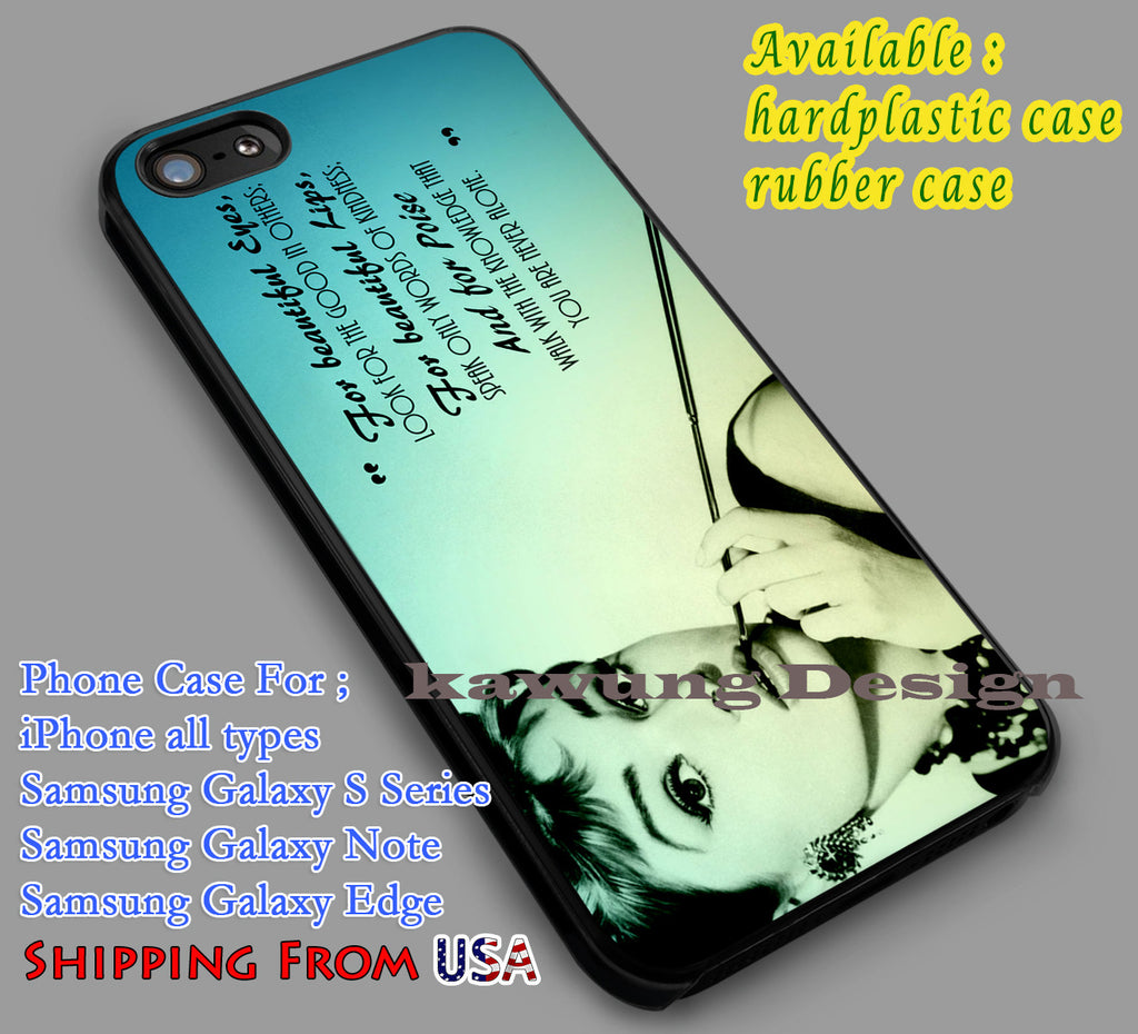 Audrey Hepburn Quote Retro iPhone 6s 6 6s+ 6plus Cases Samsung Galaxy s5 s6 Edge+ NOTE 5 4 3 #movie #actrees #adh dl4 - Kawung Design  - 1