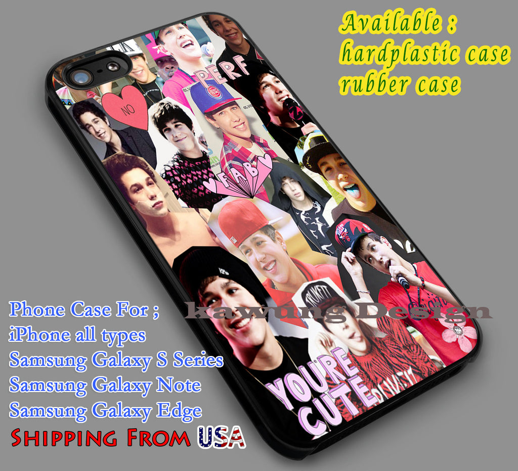 Austin Mahone Collage iPhone 6s 6 6s+ 5c 5s Cases Samsung Galaxy s5 s6 Edge+ NOTE 5 4 3 #music #astnm dl7 - Kawung Design  - 1