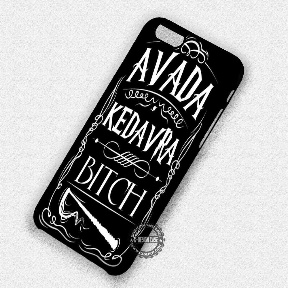 Avada Kedavra Bitch Spell Harry Potter - iPhone 7 6 Plus 5c 5s SE Cases & Covers - Kawung Design  - 1