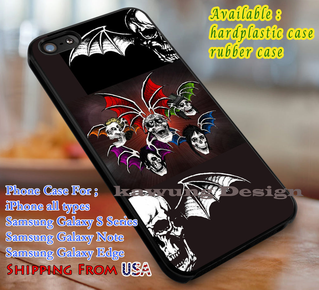 Avenged | Avenged Sevenfold | Logo | Case/Cover for iPhone 4/4s/5/5c/6/6+/6s/6s+ Samsung Galaxy S4/S5/S6/Edge/Edge+ NOTE 3/4/5 #music #a7x dl1 - Kawung Design  - 1