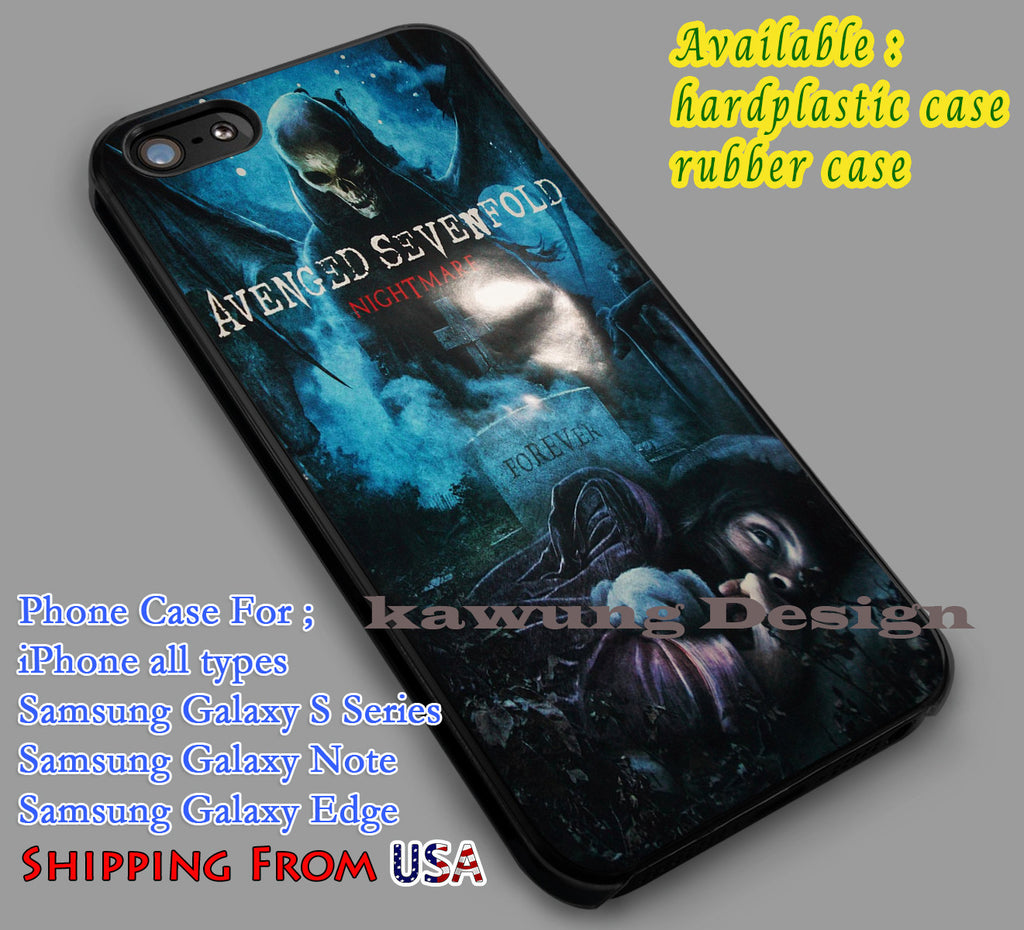 Avenged Sevenfold Nightmare iPhone 6s 6 6s+ 6plus Cases Samsung Galaxy s5 s6 Edge+ NOTE 5 4 3 #music #a7x dl4 - Kawung Design  - 1