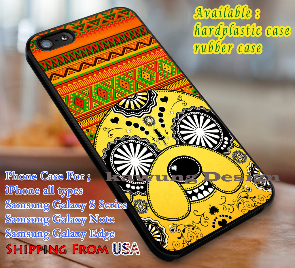 Aztec Jake Adventure Time iPhone 6s 6 6s+ 6plus Cases Samsung Galaxy s5 s6 Edge+ NOTE 5 4 3 #cartoon #anime #adventuretime dl3 - Kawung Design  - 1