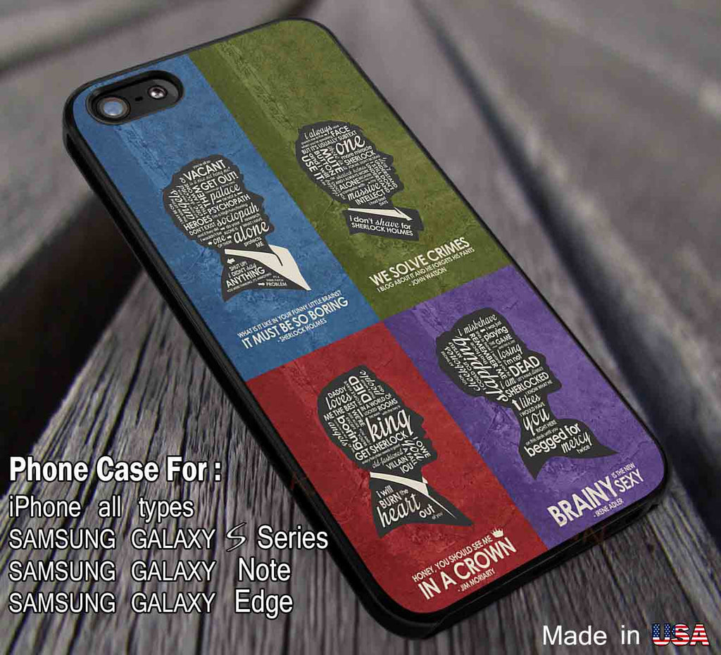 BBC Sherlock Quote Poster Set iPhone 8+ 7 6s Cases Samsung Galaxy S8 S7 edge NOTE 8 5 4