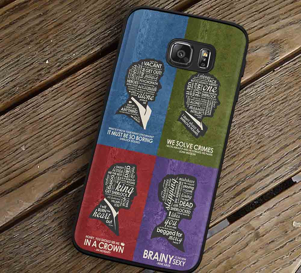 BBC Sherlock Quote Poster Set Samsung Galaxy s3 s4 s5 s6 Edge+ NOTE 5 4 3 Cases #movie #supernatural #superwholock #sherlock #doctorWho lk - Kawung Design  - 1