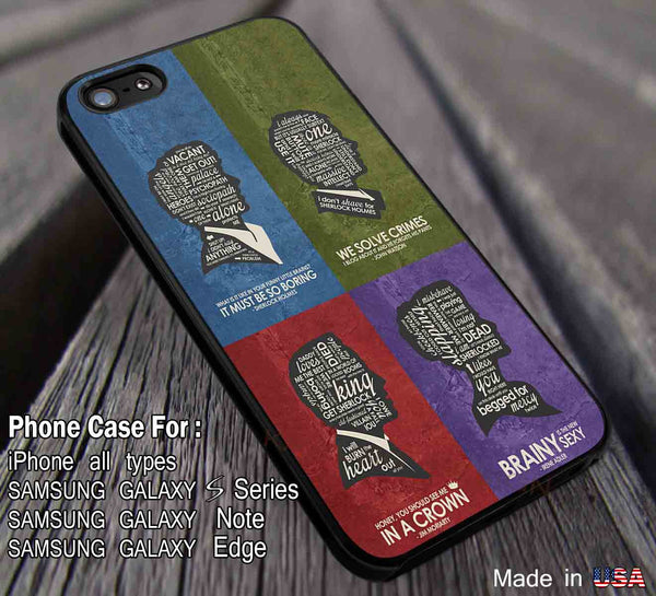 BBC Sherlock Quote Poster Set iPhone 6s 6 plus 6s+ 5c 5s Cases Samsung Galaxy s5 s6 Edge+ NOTE 5 4 3 Covers #movie #superwholock #doctorwho #sherlockholmes dl2 - Kawung Design  - 1