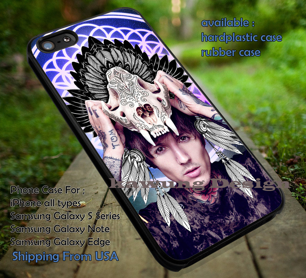 Bring Me The Horizon Skull Head case/cover for iPhone 4/4s/5/5c/6/6+/6s/6s+ Samsung Galaxy S4/S5/S6/Edge/Edge+ NOTE 3/4/5 #music #bmth ii - Kawung Design  - 1