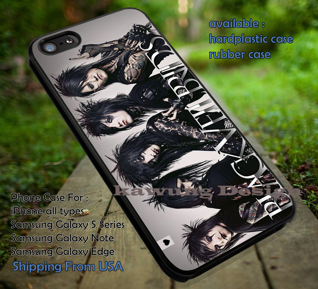 BVB,  band, punk rock, music pierce the veil, black veil brides, case/cover for iPhone 4/4s/5/5c/6/6+/6s/6s+ Samsung Galaxy S4/S5/S6/Edge/Edge+ NOTE 3/4/5 #music #bvb ii - Kawung Design  - 1