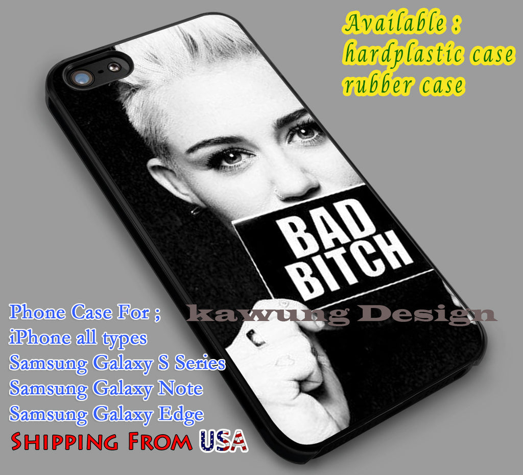 Bad Bitch Miley Cyrus iPhone 6s 5s 6s+ 5c Cases Samsung Galaxy s5 s6 Edge+ NOTE 5 4 3 #music #mc dl4 - Kawung Design  - 1