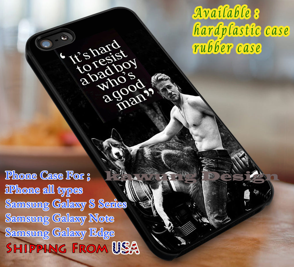Charlie Hunnam Quote iPhone 6s 6 6s+ 6plus Cases Samsung Galaxy s5 s6 Edge+ NOTE 5 4 3 #quote dl3 - Kawung Design  - 1