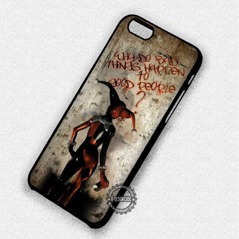 Bad Things Quote Harley Quinn - iPhone 7 6 Plus 5 4 SE Cases & Covers - Kawung Design  - 1