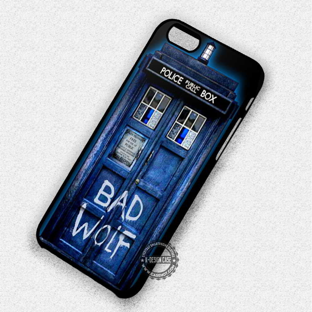 Bad Wolf Tardis Dr Who - iPhone 6 5 SE Cases & Covers - Kawung Design  - 1