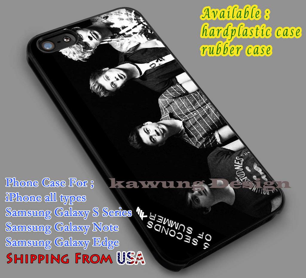 5sos Band Black & White iPhone 6s 6 6s+ 5c 5s Cases Samsung Galaxy s5 s6 Edge+ NOTE 5 4 3 #music #5sos dl6 - K-Designs