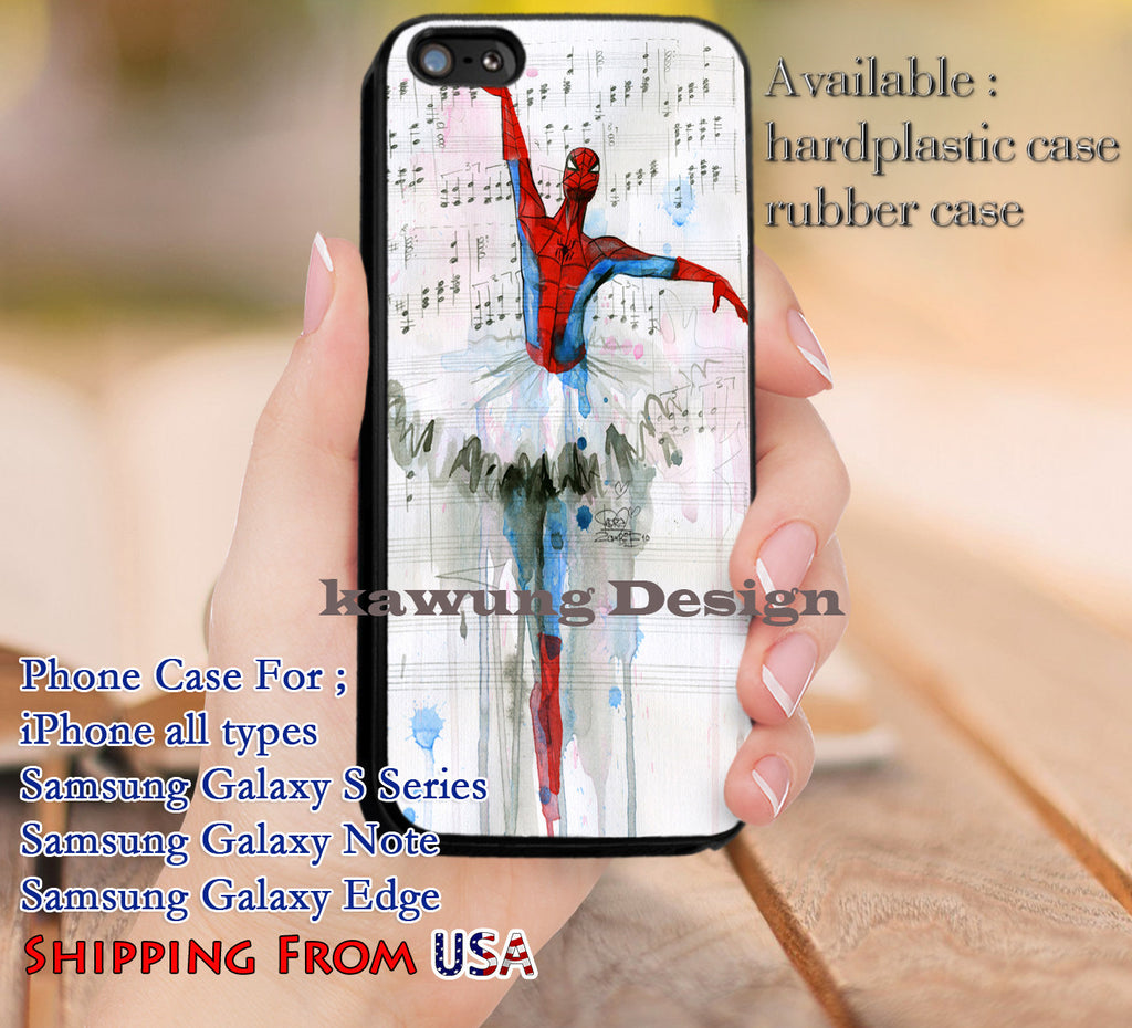 Ballet Spiderman iPhone X 8+ 7 6s Cases Samsung Galaxy S8 S7 edge NOTE 8 5 4