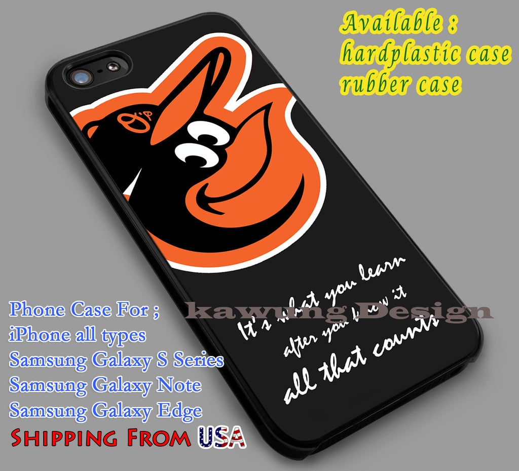 Baltimore Quotes | Baltimore Orioles iPhone 6s 6 6s+ 6plus Cases Samsung Galaxy s5 s6 Edge+ NOTE 5 4 3 #quote dl2 - Kawung Design  - 1