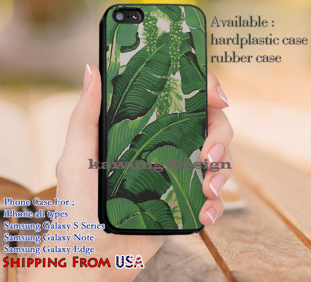 Banana Leaf Tropical Painting iPhone 6s 6 6s+ 5c 5s Cases Samsung Galaxy s5 s6 Edge+ NOTE 5 4 3 #art dl13 - Kawung Design  - 1